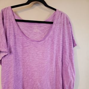 Lilac studded top